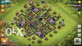 town hall 8 max defence and attack اكونت كلاش اوف كلان