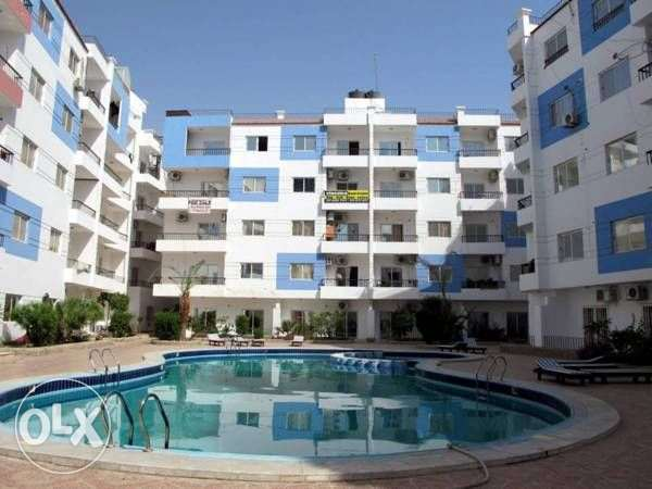 Best area in Hurghada, El Kauser, studio in compound Lotus for rent