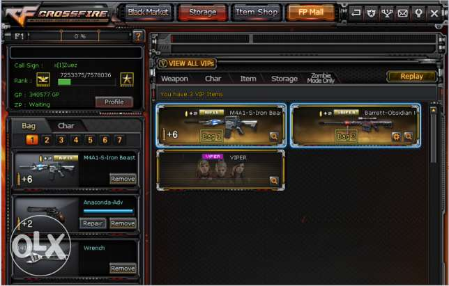 Account Cross Fire For Sell