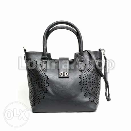 Leather perforated bag 2