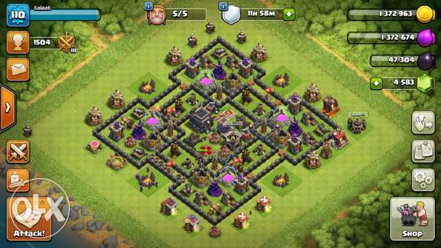 clash of clans lvl 9 Max