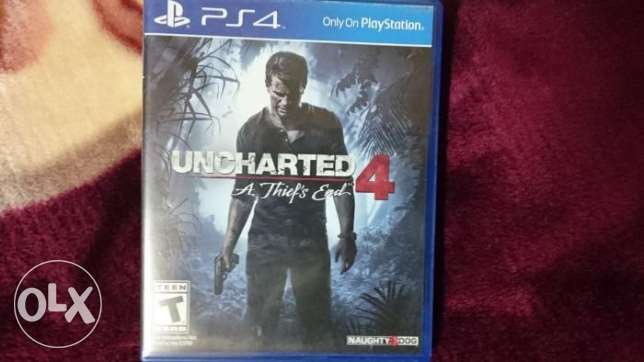 Uncharted 4 ps4 game used like new