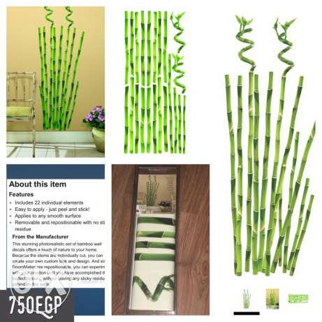 Bamboo Shoots Wall Stickers