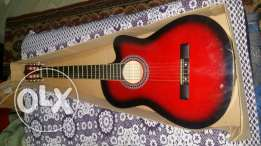 guitar classic wiht red colour