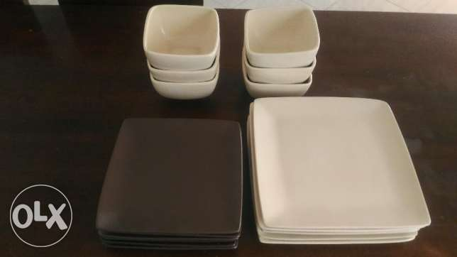 Dish set 18 piece - from UK (square)