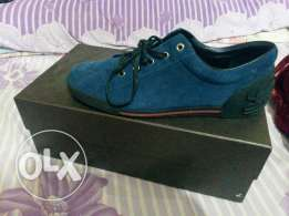 Gucci blue suede leather trainer, ORIGINAL, purchased from London