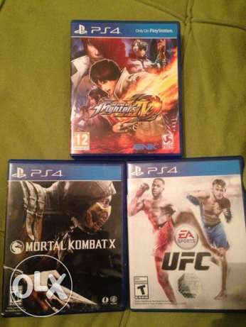 The king of fighter, Mortal Kombat X, UFC for sale used perfect condit التجمع الخامس -  1