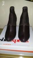 High heels brown boat size 39 worn once