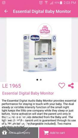 chicoo baby monitor brand new