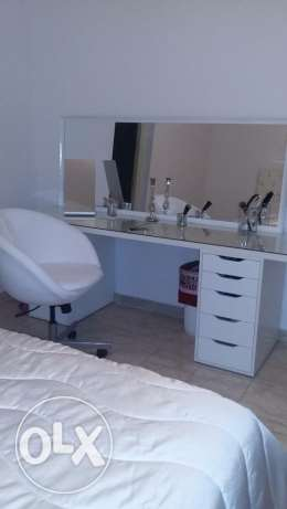 bedroom (capitone+ matress+ dressing table with mirror + chest) مدينة الرحاب -  2