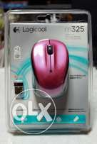 Logicool M325 (Japanese Logitech) Wireless Mouse- Rose **جديد متبرشم**