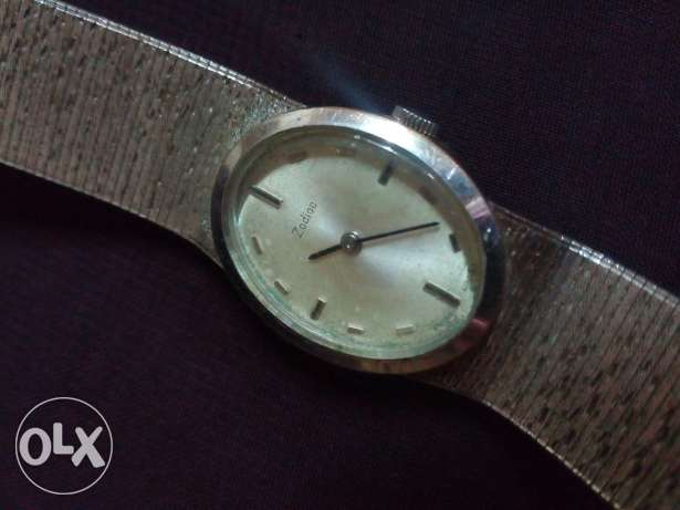 Zodiac vintage silver watch
