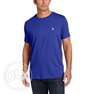 US POLO ASSN Mens Crew Neck Pony T-Shirt Blue Size XL New Original