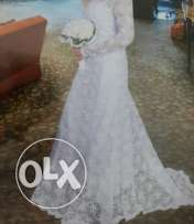 Lace imported wedding dress