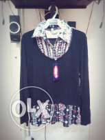 Blouse black casual