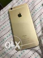iPhone 6s Plus 64 giga gold like new not a scratch with warranty