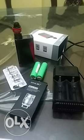 Vape with 4 coil and charger