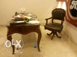 Classic wooden desk & chair & Table