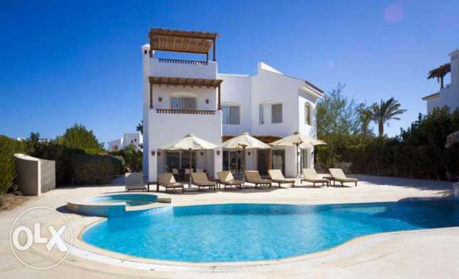 4 Bedrooms White Villa Heated Pool For Rent in El Gouna Egypt