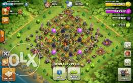 Clash of clans TH 10 maxxed 6k gem.change name كلاش اوف كلانس