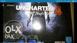 Ps4 slim 1 Tera +2 controller +uncharted
