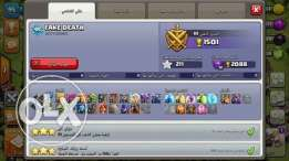 Clash of clans lvl95 أكونت كلاش أوف كلانس