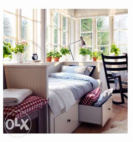 Day-bed frame with 3 drawers, white, 80x200 cm الغردقة -  5