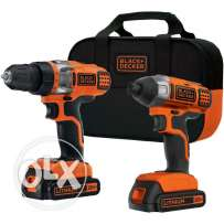 Black&Decker USA cordless drill and Impact wrench set New/Warantee 2yr