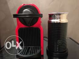 Nespresso Machine (Inissia) + Nespresso Milk Frother (Aeroccino 3)