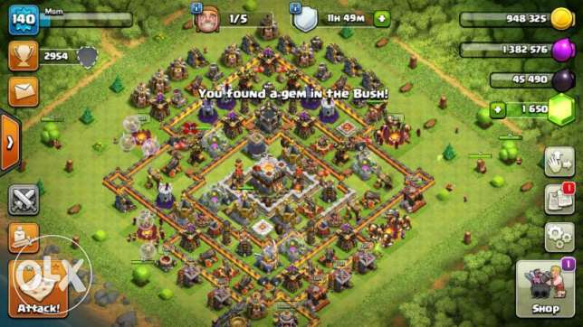 clash of clans th 11 max