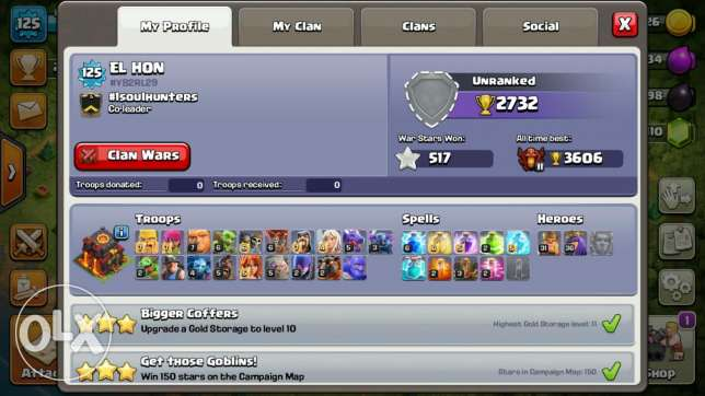 Th10 maxed (non rushed) clash of clans for sale