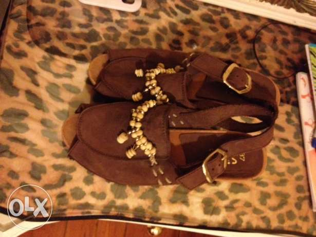 new natural leather saboh made in italy, size37 الدقى  -  1