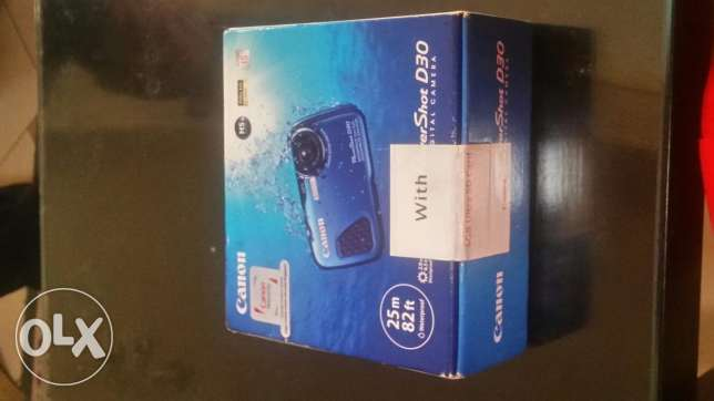 Canon Waterproof Power Shot D30 new in closed box