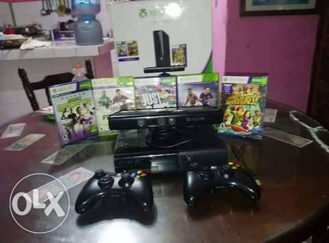 Xbox 360 Kinect 2 joysticks and games مدينة المنيا -  1