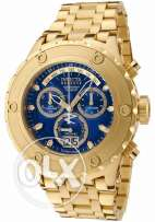Invicta Men's 1567 Reserve Chronograph Blue Dial 18k Gold Ion-Plated S