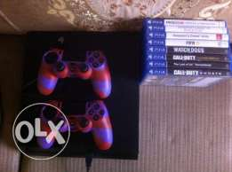 Ps4 500GB with 2 Controllers