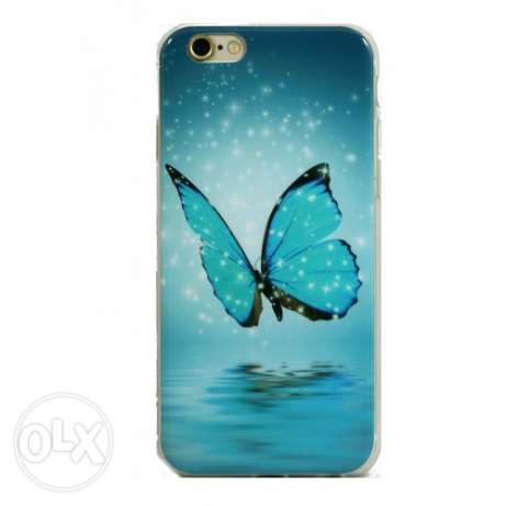 [جراب موبيل BACK i phone 6 – 6S : BUTTERFLY