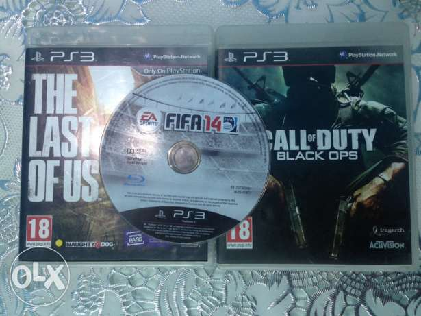 last of us / call of duty black ops 1 / fifa 14