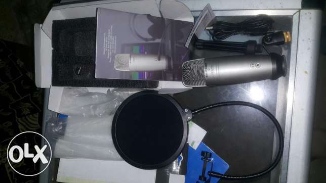 Microphone C01U PRO + Stand + pop Filter رشيد -  2