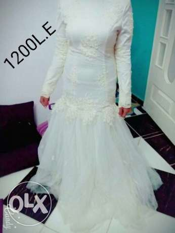 Wedding dress used once off white