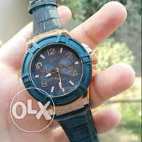 Guess Blue Leather Watch
