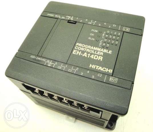 Hitachi EH-A14DR PLC 14 Point 6 Relays 10 kHz High Speed Counter