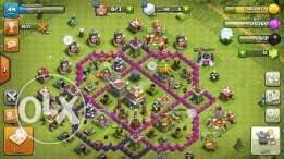 Clash of clans town hall 7 نصف ماكس 175ج