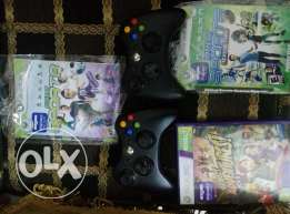 2 original wireless controllers + 3 original kinect games .