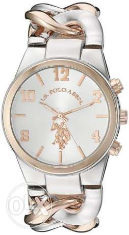 US Polo New Original round Silver-Rose Gold sealed watch