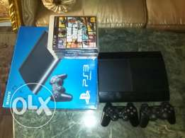 Playstation 3 superslim 500 gb with 7 games