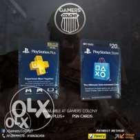 PSN cards and Plus