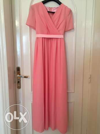 Satin and Chiffon dress for pregnant wedding guest