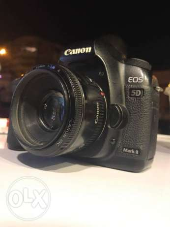 Canon 5D mark II shutter 160K with box and all acs with lins 50mm