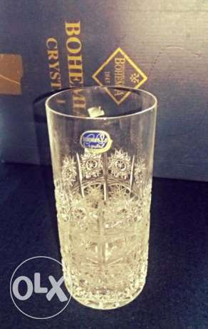 "Crystal Glasses "" Hand Cut Lead Crystals"" .. Made in Czech Price 1000$ الإسكندرية -  2"